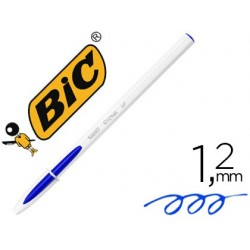 Boligrafo bic cristal up bicolor fun azul punta de 1,2 mm